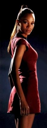 Uhura com uniforme atual.