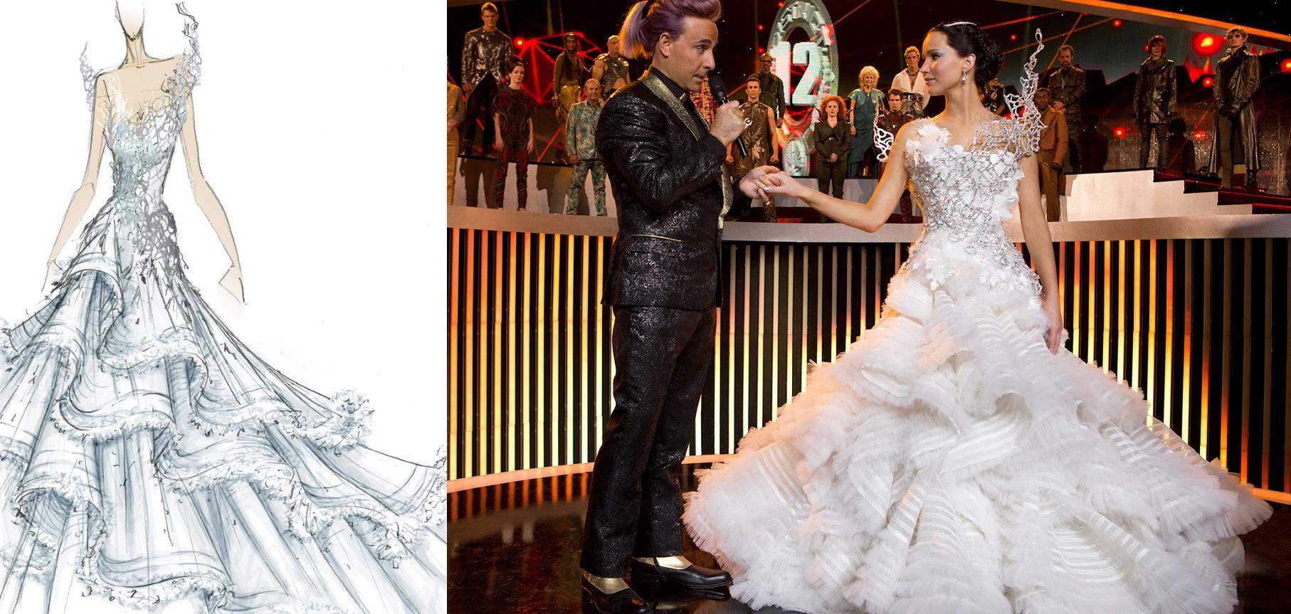 Croqui do vestido de casamento por Tex Saverio